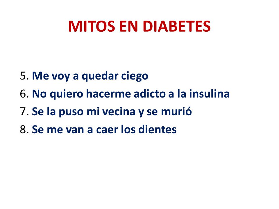 MITOS EN DIABETES