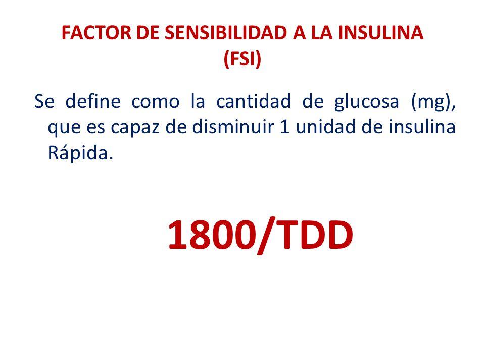 FACTOR DE SENSIBILIDAD A LA INSULINA (FSI)