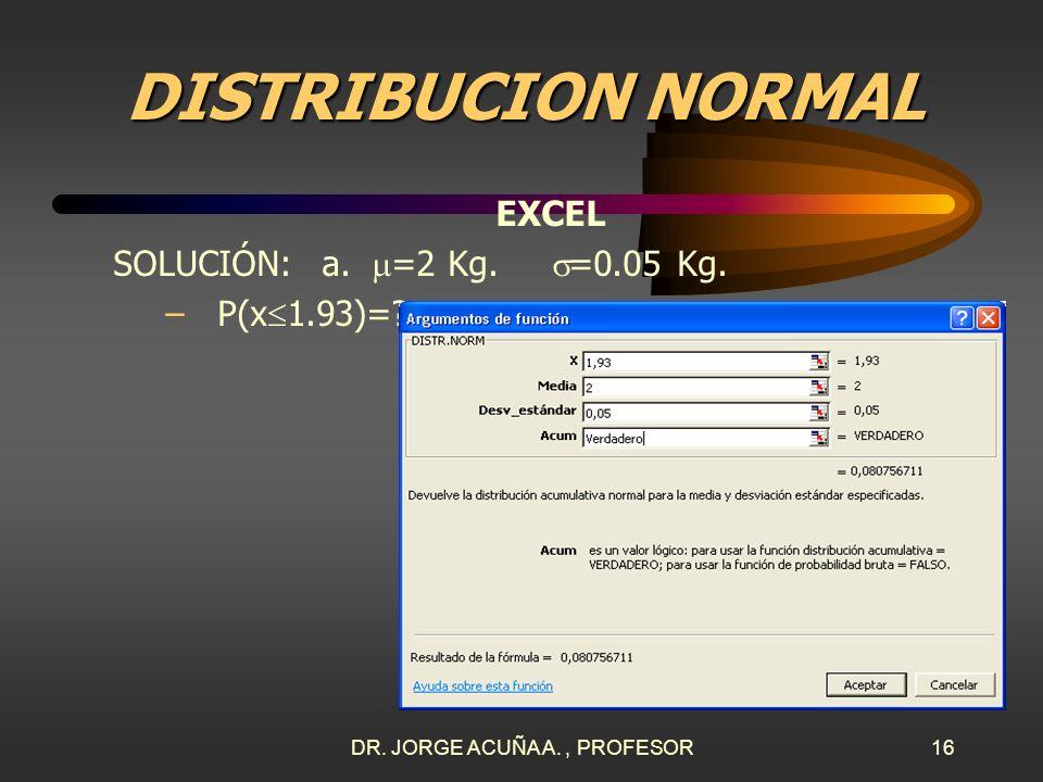 DR. JORGE ACUÑA A. , PROFESOR
