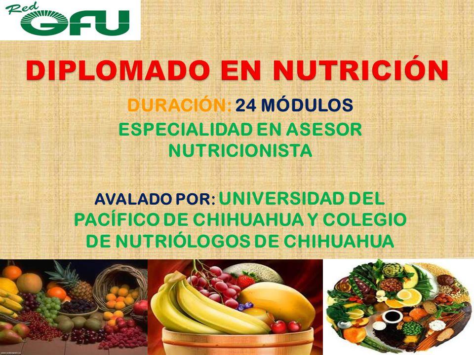 DIPLOMADO EN NUTRICIÓN