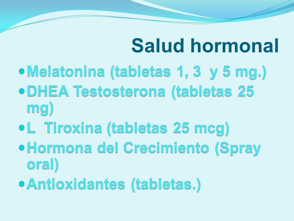 Salud hormonal Melatonina (tabletas 1, 3 y 5 mg.)