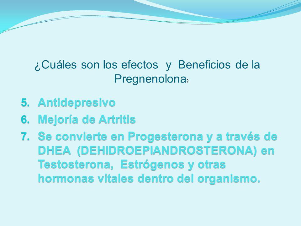¿Cuáles son los efectos y Beneficios de la Pregnenolona