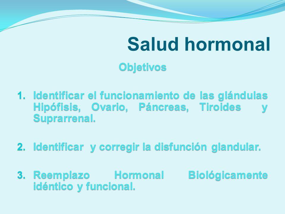 Salud hormonal Objetivos