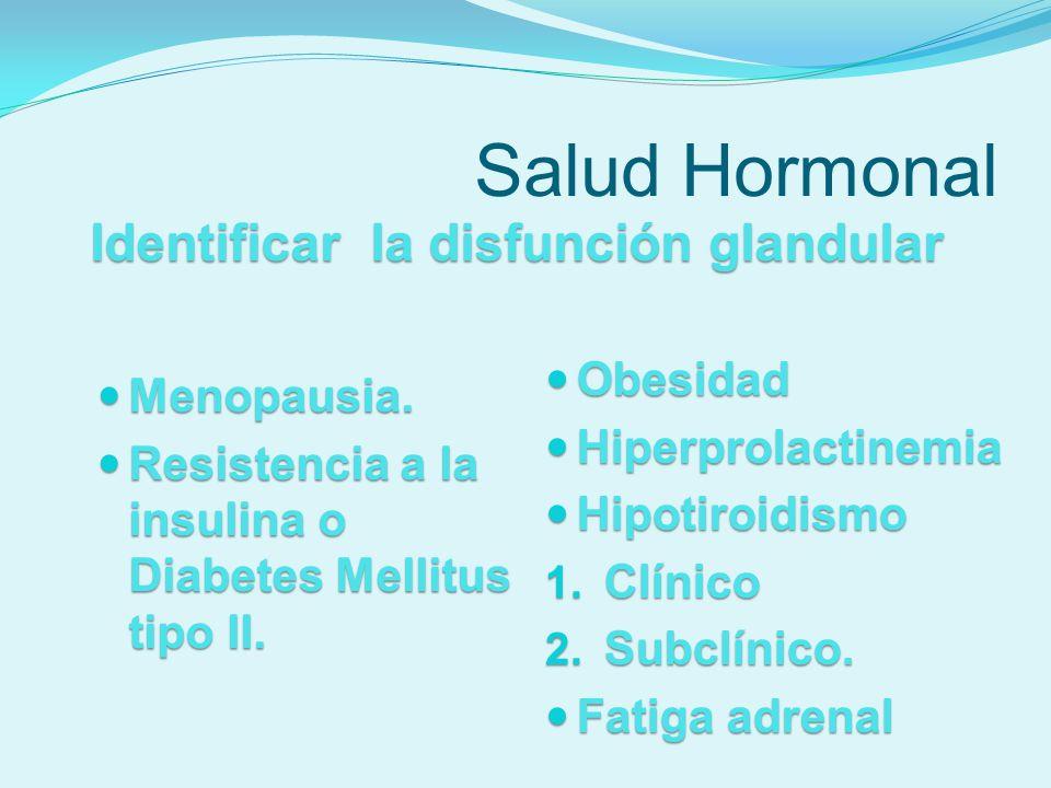 Identificar la disfunción glandular