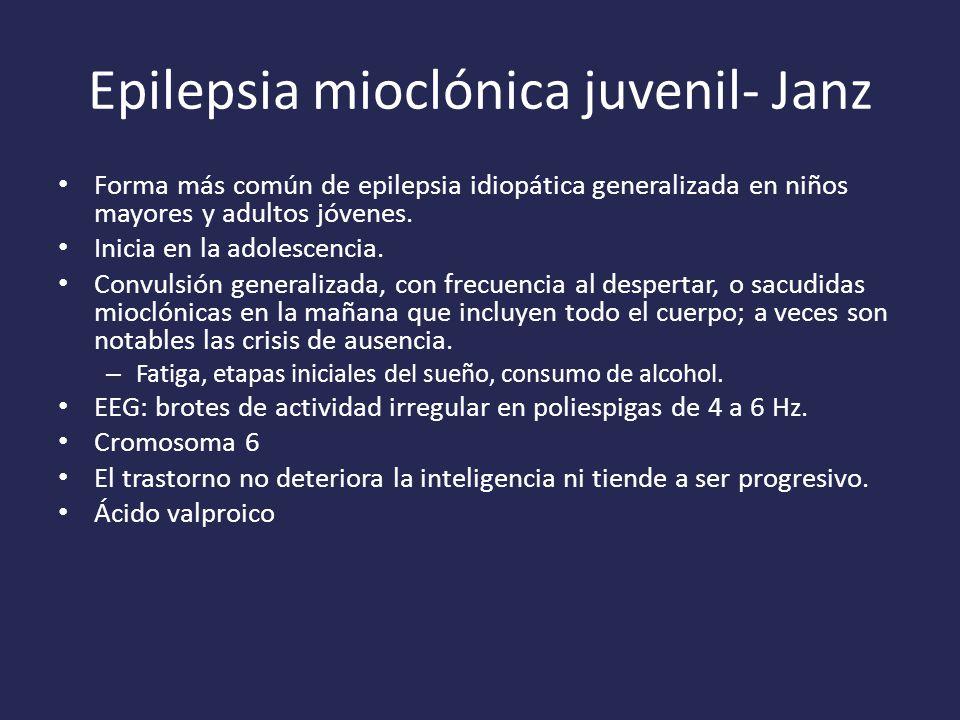 Epilepsia mioclónica juvenil- Janz
