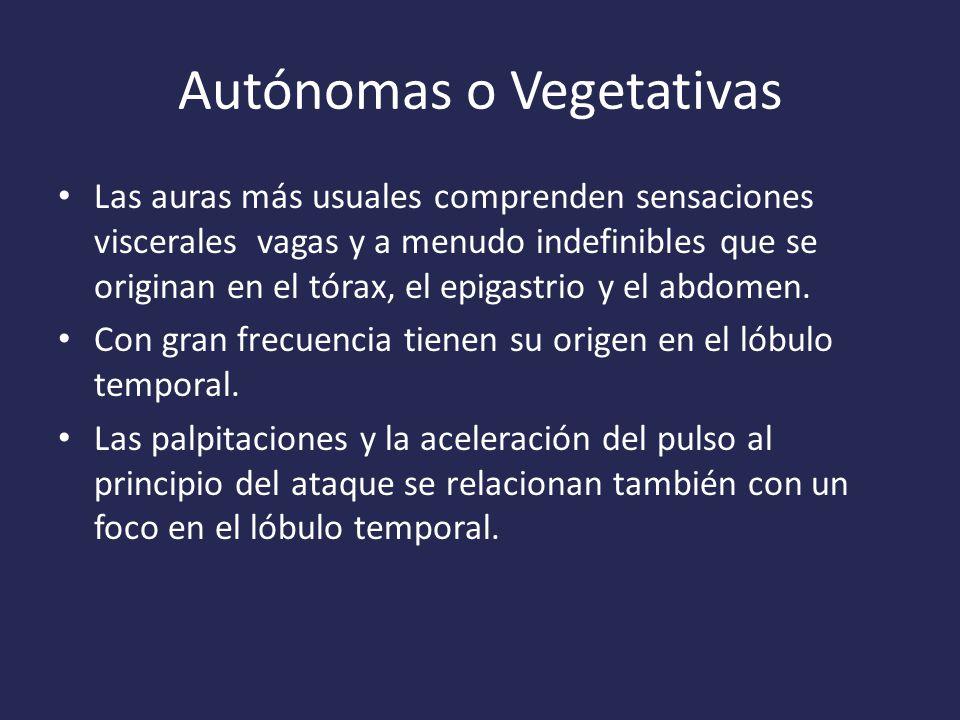 Autónomas o Vegetativas