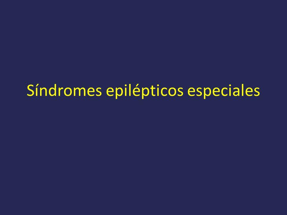 Síndromes epilépticos especiales