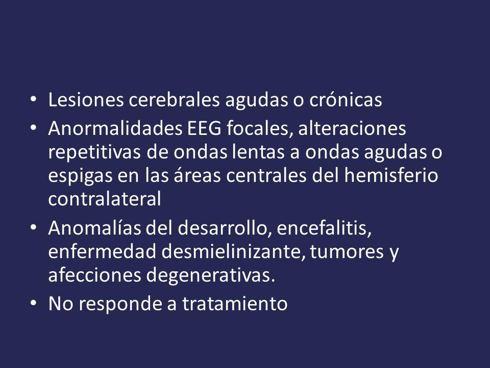 Lesiones cerebrales agudas o crónicas