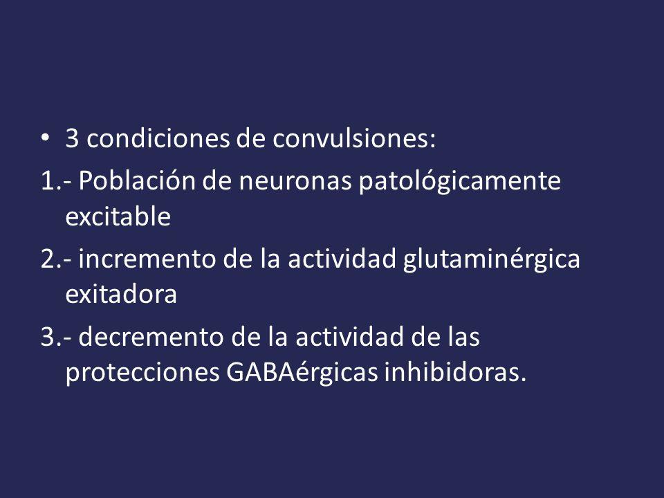 3 condiciones de convulsiones: