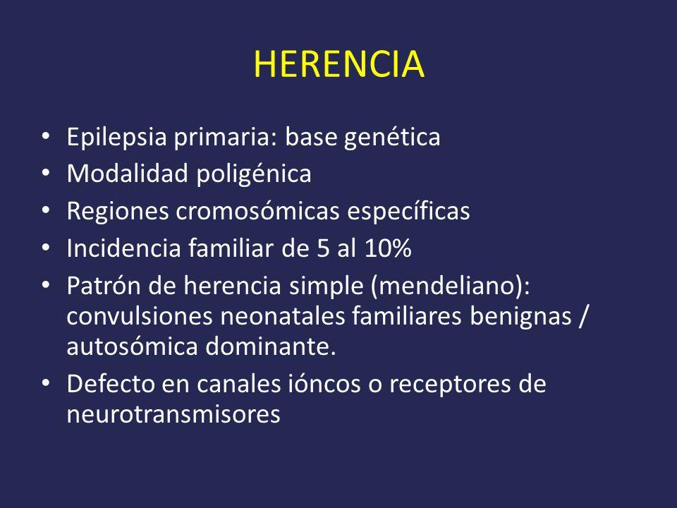 HERENCIA Epilepsia primaria: base genética Modalidad poligénica