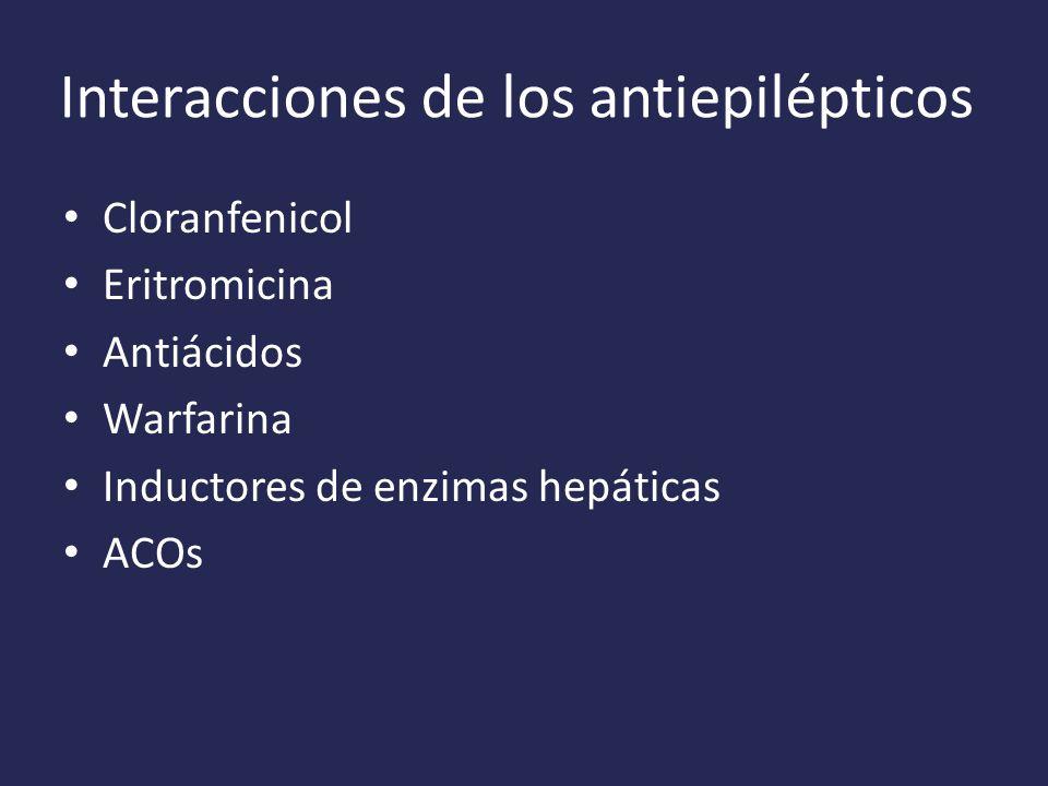 Interacciones de los antiepilépticos