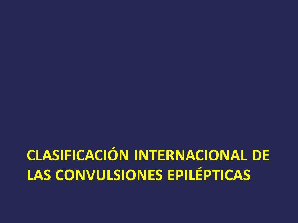 Clasificación Internacional de las Convulsiones Epilépticas