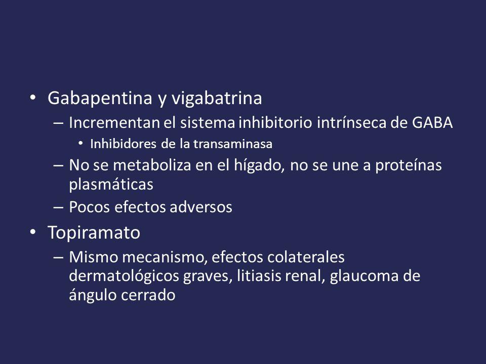 Gabapentina y vigabatrina