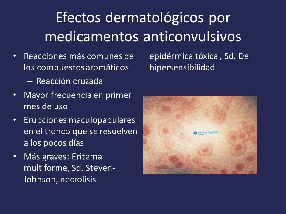 Efectos dermatológicos por medicamentos anticonvulsivos