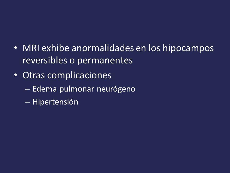 MRI exhibe anormalidades en los hipocampos reversibles o permanentes