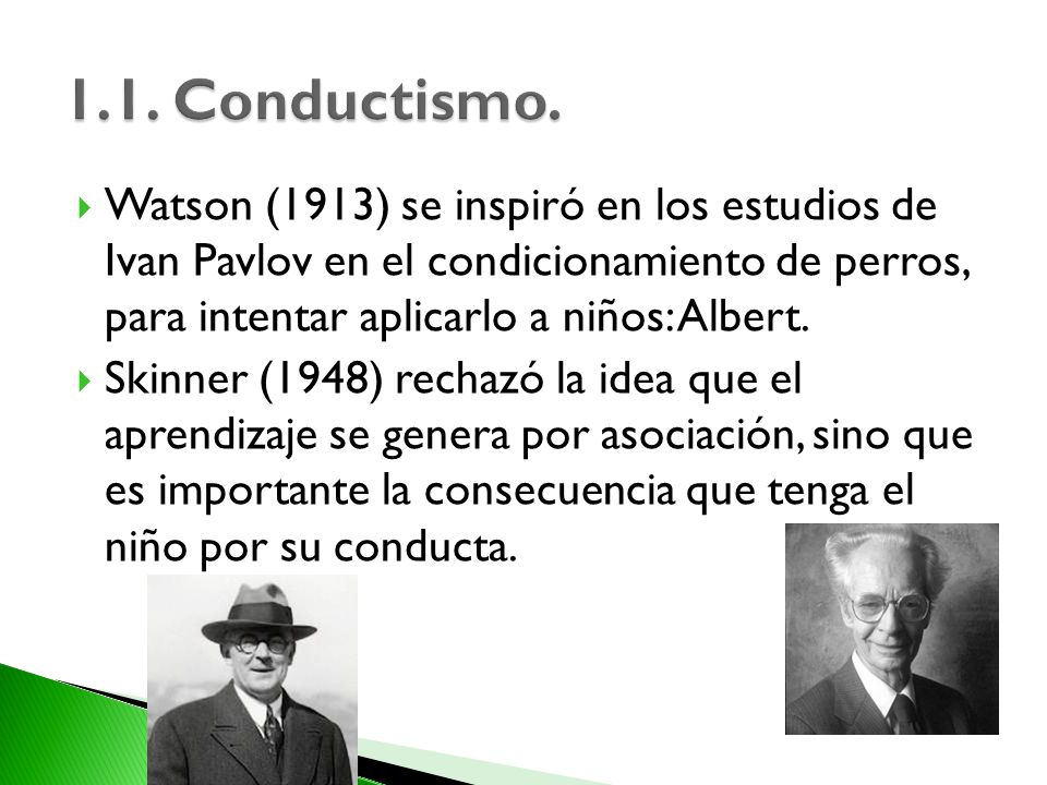 1.1. Conductismo.