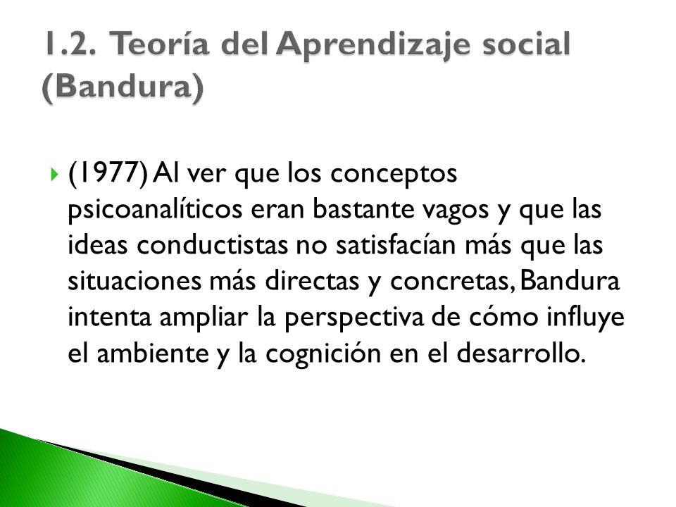 1.2. Teoría del Aprendizaje social (Bandura)