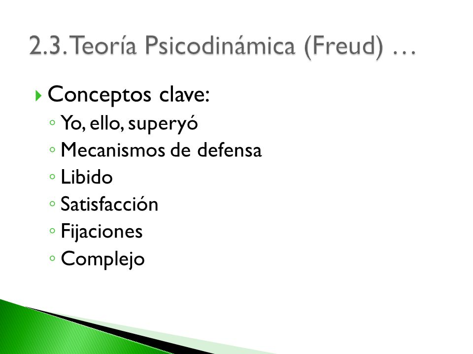 2.3. Teoría Psicodinámica (Freud) …