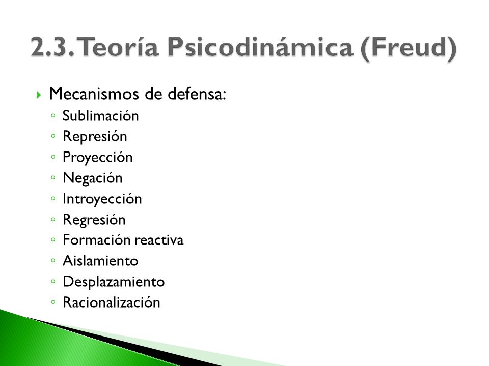 2.3. Teoría Psicodinámica (Freud)