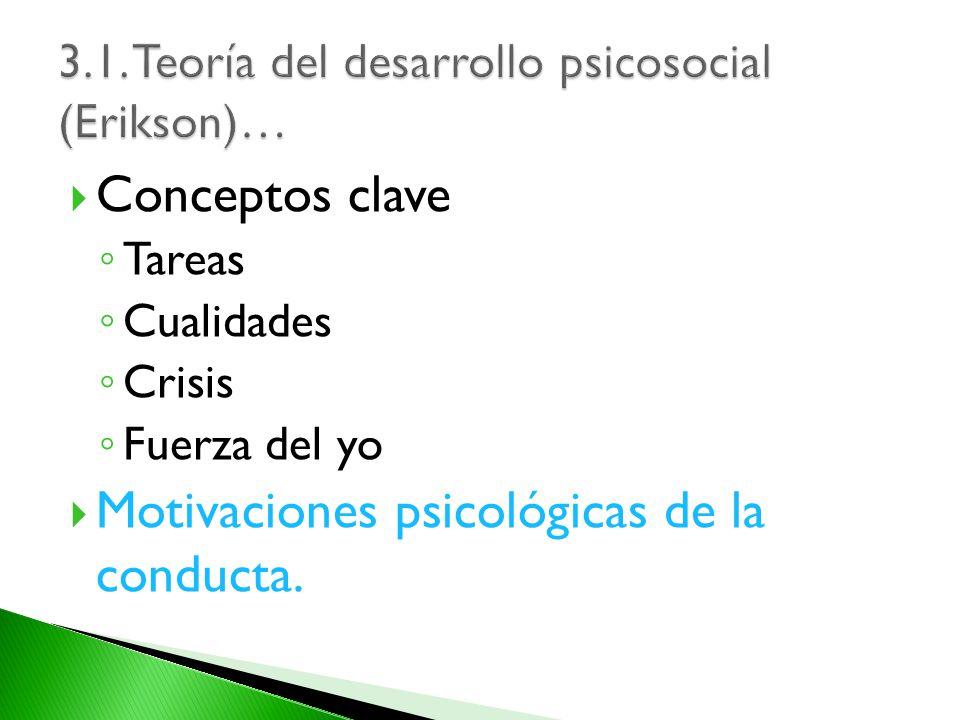 3.1. Teoría del desarrollo psicosocial (Erikson)…