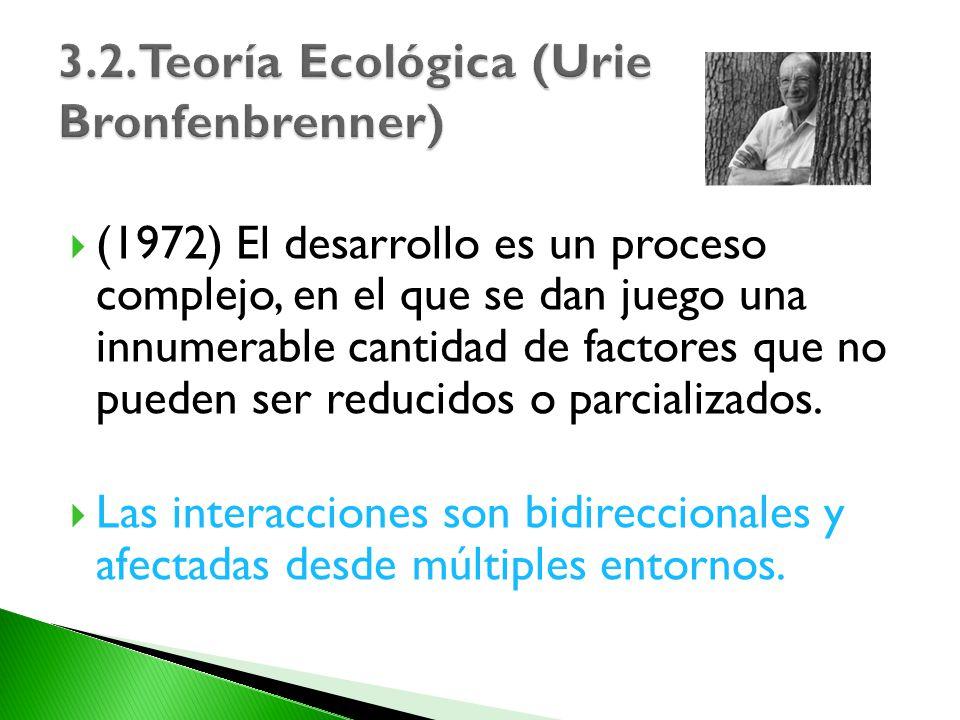 3.2.Teoría Ecológica (Urie Bronfenbrenner)