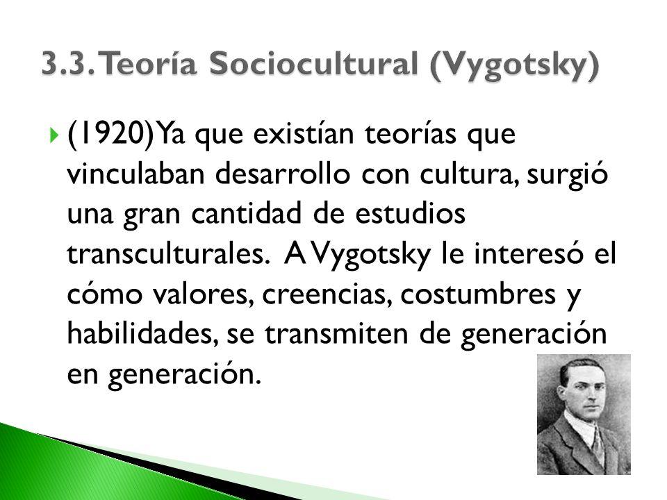 3.3. Teoría Sociocultural (Vygotsky)