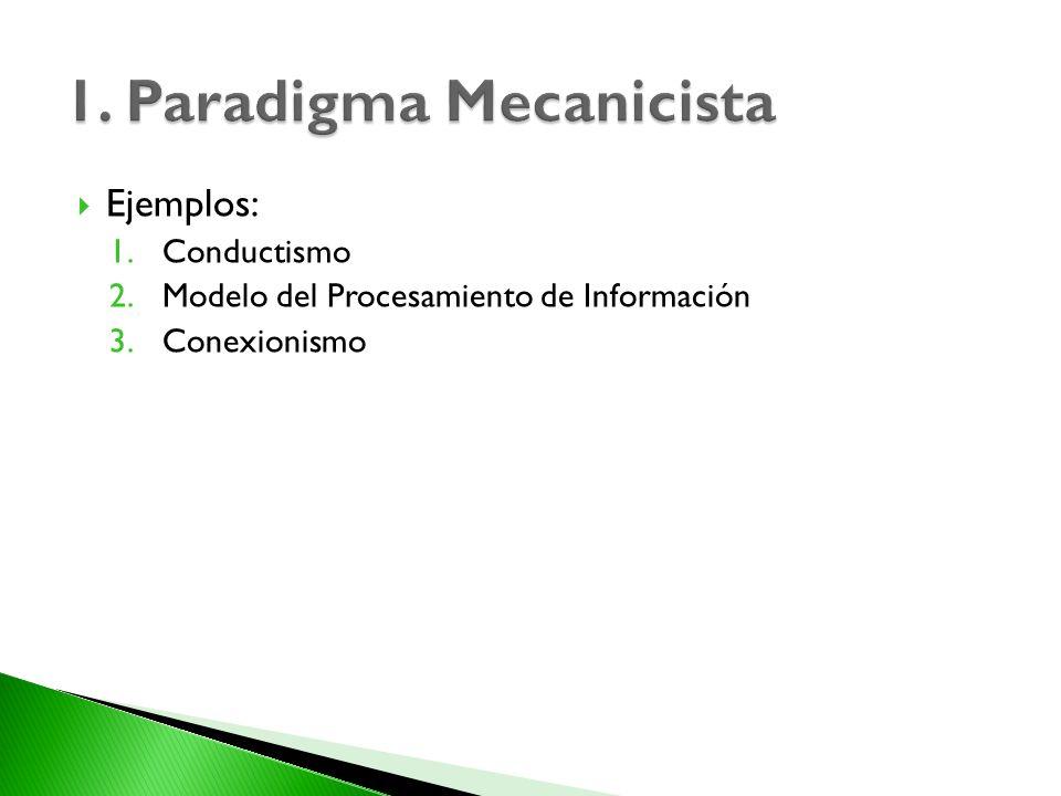 1. Paradigma Mecanicista