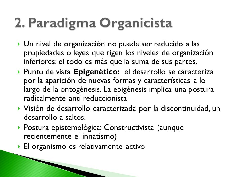2. Paradigma Organicista