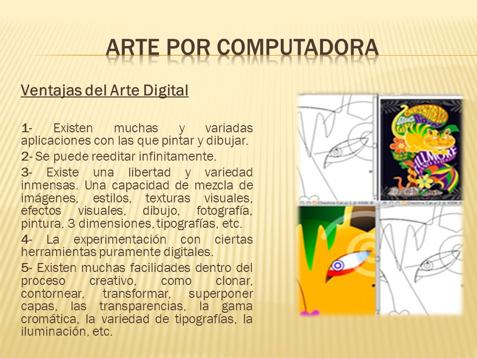 Arte por computadora Ventajas del Arte Digital