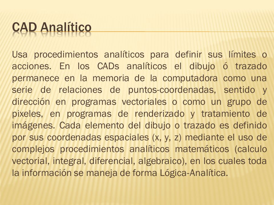 CAD Analítico