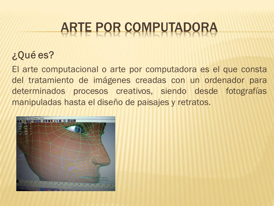 Arte por computadora ¿Qué es