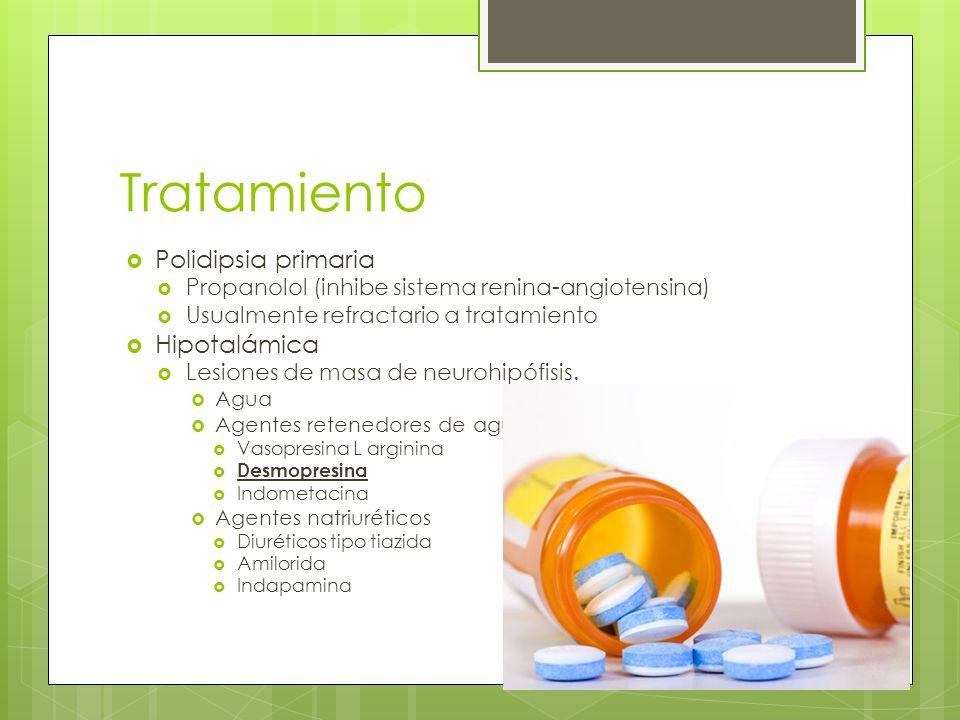 Tratamiento Polidipsia primaria Hipotalámica
