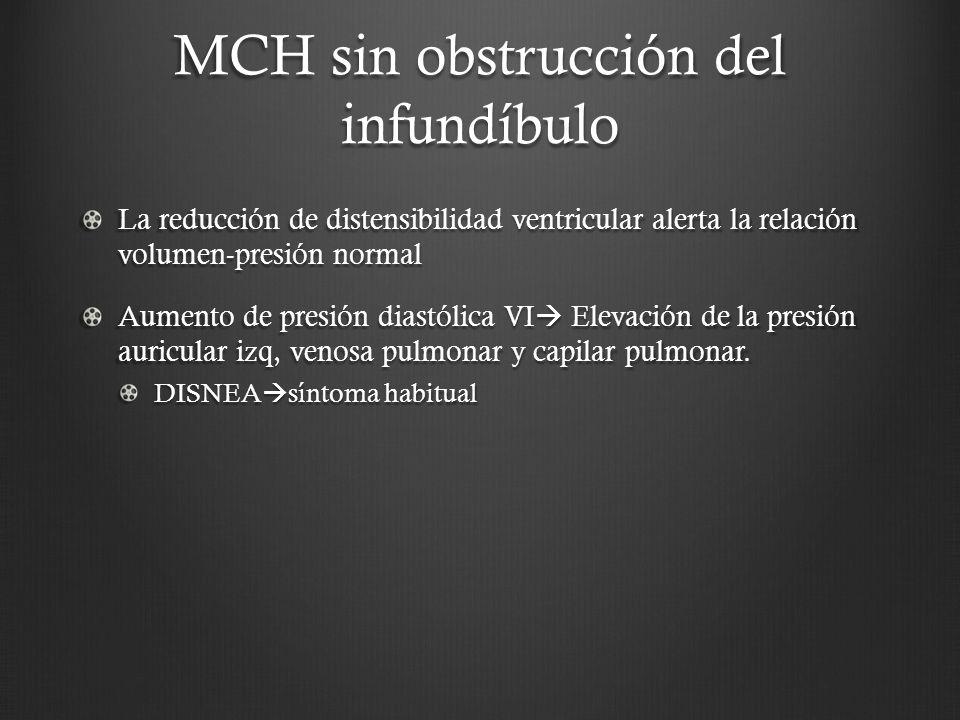 MCH sin obstrucción del infundíbulo