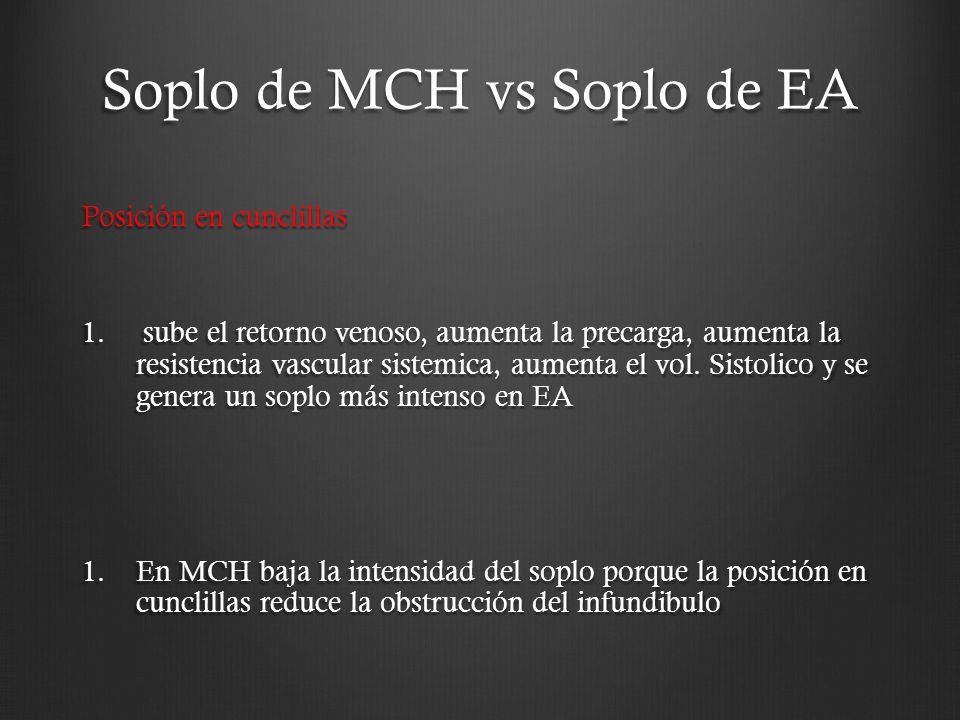 Soplo de MCH vs Soplo de EA