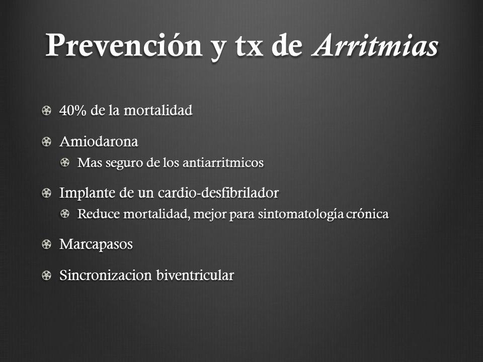 Prevención y tx de Arritmias