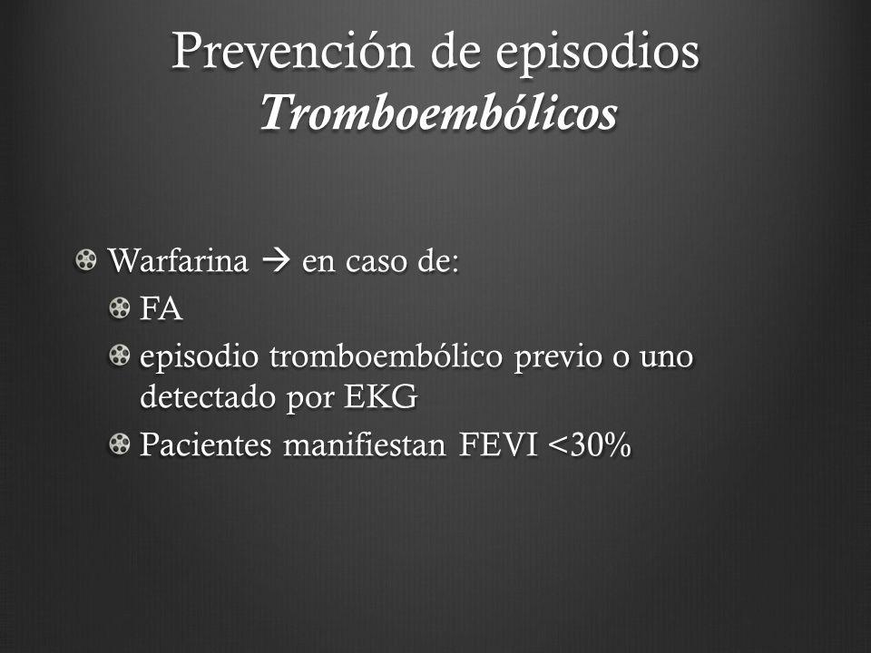 Prevención de episodios Tromboembólicos