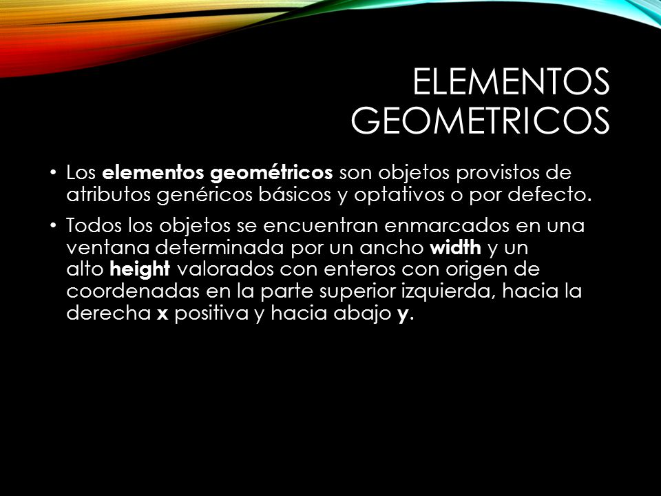 Elementos geometricos