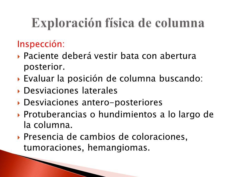 Exploración física de columna