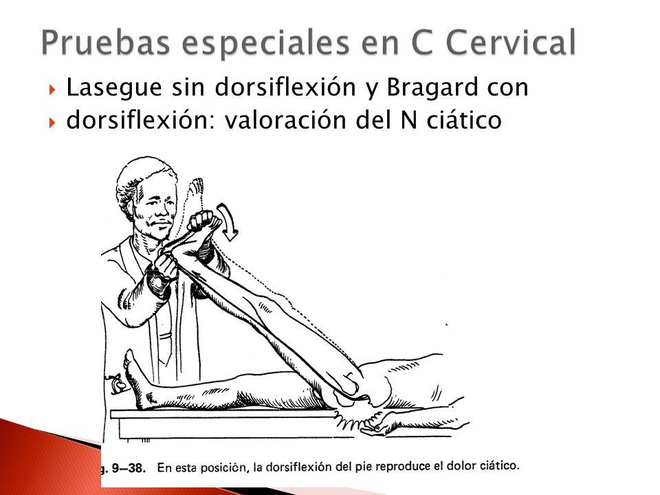 Pruebas especiales en C Cervical