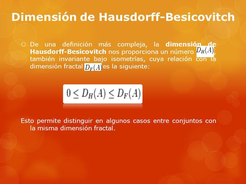 Dimensión de Hausdorff-Besicovitch