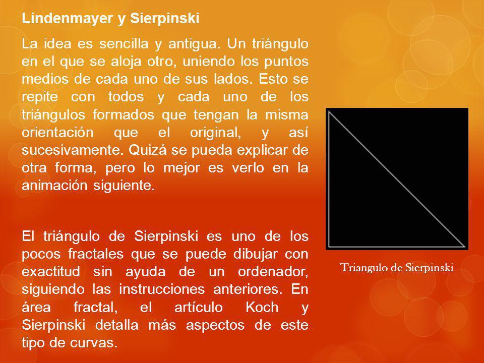 Lindenmayer y Sierpinski