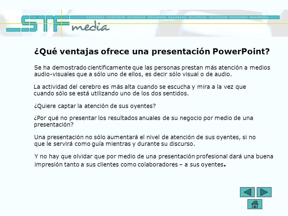 ¿Qué ventajas ofrece una presentación PowerPoint