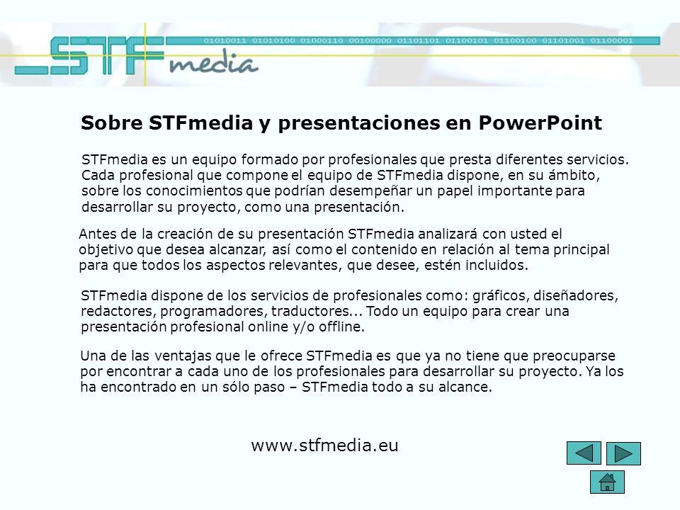 Sobre STFmedia y presentaciones en PowerPoint