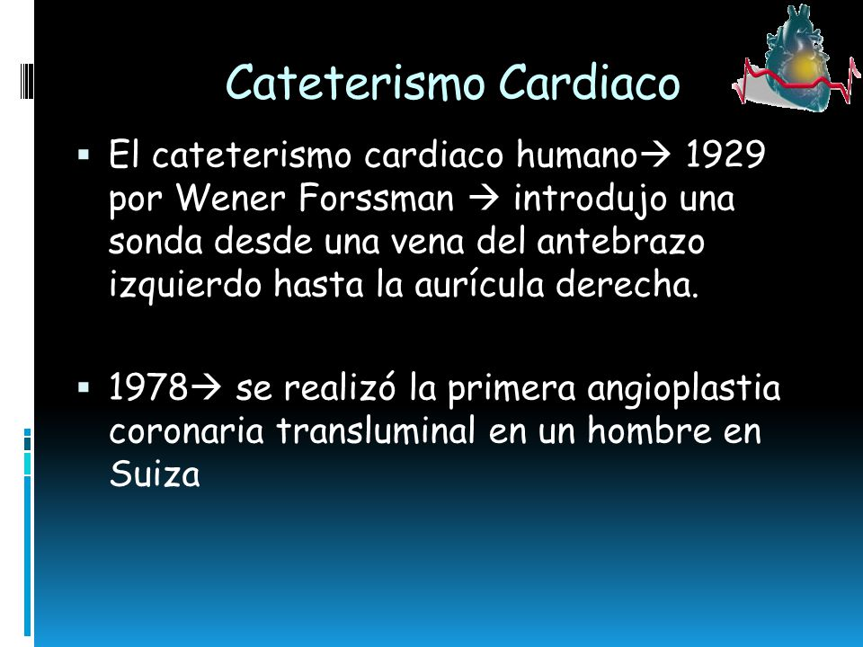 Cateterismo Cardiaco