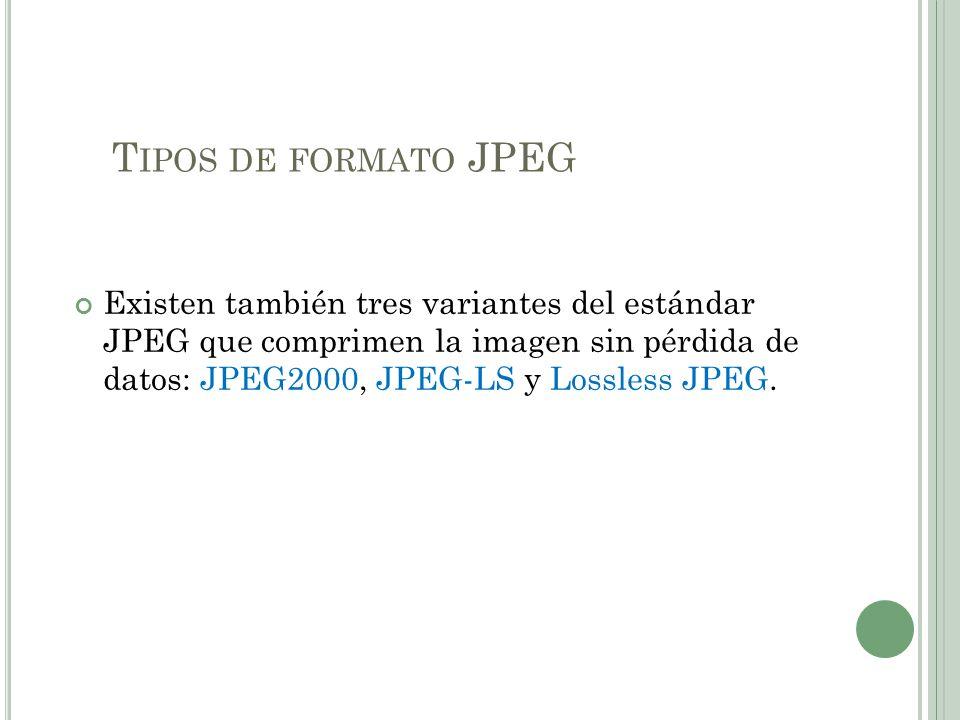 Tipos de formato JPEG