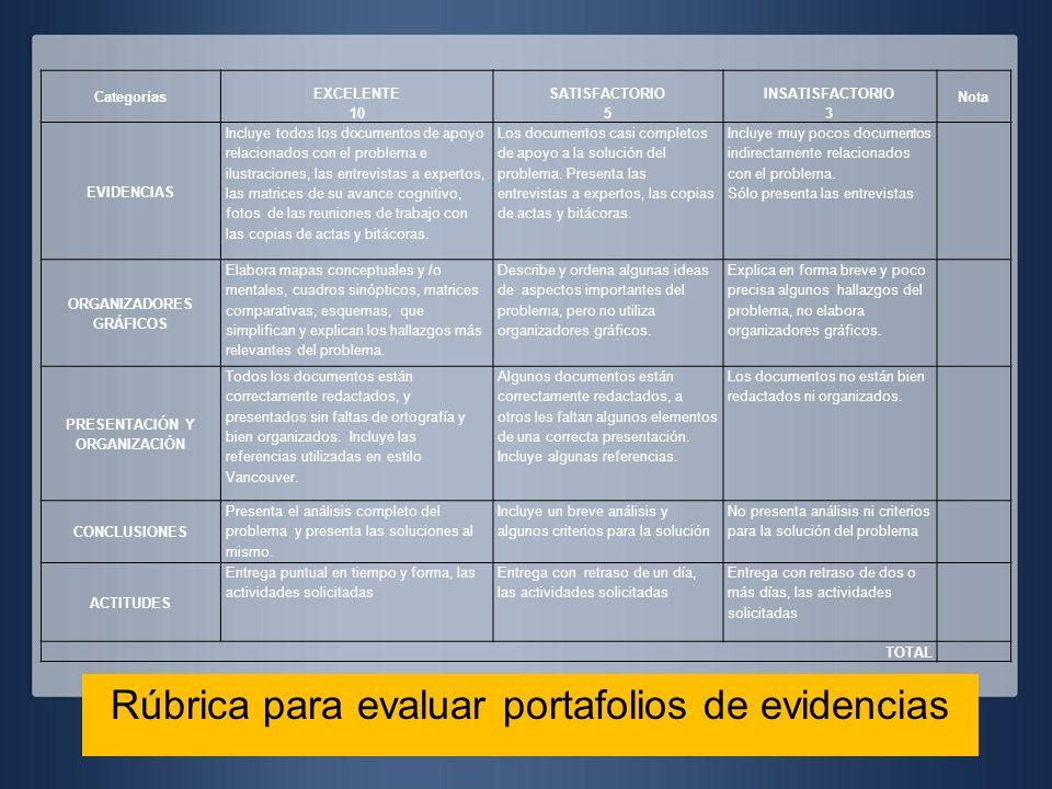 ORGANIZADORES GRÁFICOS PRESENTACIÓN Y ORGANIZACIÓN