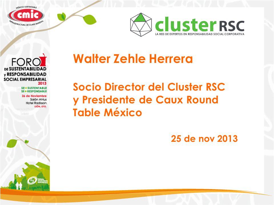 Walter Zehle Herrera Socio Director del Cluster RSC