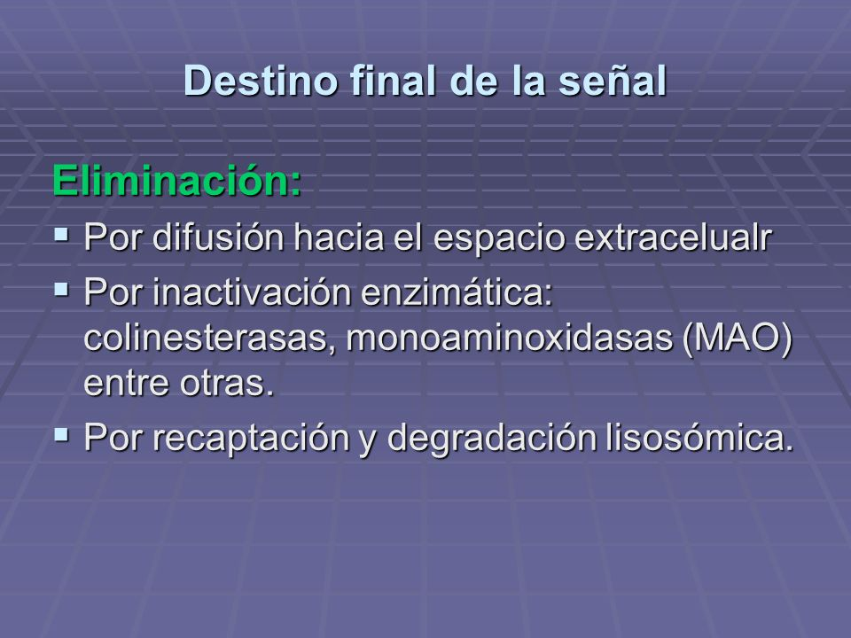 Destino final de la señal