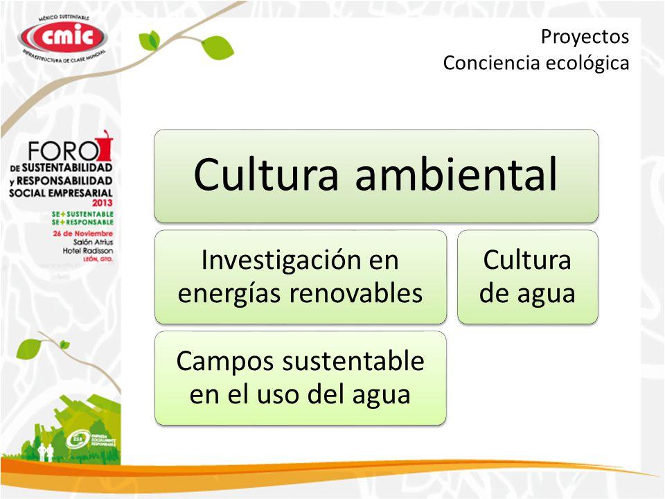 Cultura ambiental Investigación en energías renovables