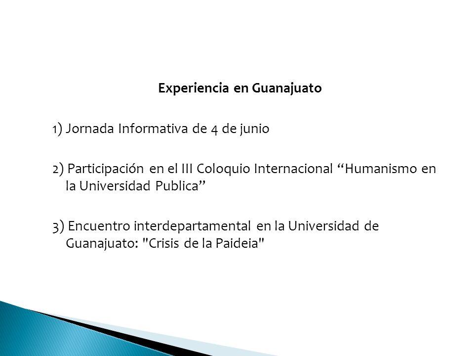 Experiencia en Guanajuato